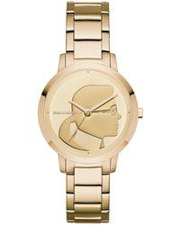 Karl Lagerfeld - Camille Stainless Steel Three-hand Bracelet Watch - Lyst