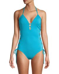 Laundry by Shelli Segal - Strappy One-piece Swimsuit - Lyst