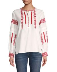 Club Monaco - Vandary Embroidered Blouse - Lyst
