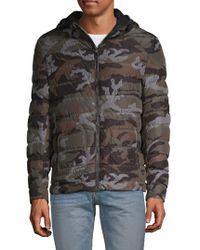 Belstaff - Camouflage Quilted Down Jacket - Lyst