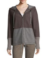 Lafayette 148 New York - Cashmere Blend Colorblock Hoodie - Lyst