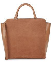 Halston - Leather Tote Shoulder Bag - Lyst