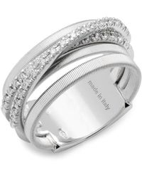Marco Bicego - Diamond & 18k White Gold Ring - Lyst