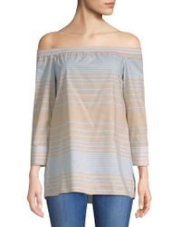 Lafayette 148 New York - Amy Striped Blouse - Lyst