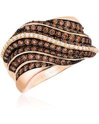 Le Vian - Chocolatier® Chocolate & Vanilla Diamond® Pleated Ring - Lyst