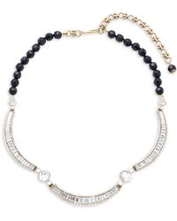Heidi Daus - Jet Holiday Baguette Necklace - Lyst