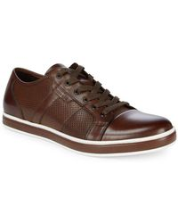Kenneth Cole - Brandwidth Leather Low-top Trainers - Lyst