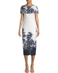 Kay Unger - Printed Cape Dress - Lyst