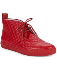 Del Toro - Quilted Leather Ankle Boots - Lyst
