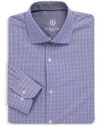 Bugatchi - Woven Cotton Plaid Dress Shirt - Lyst