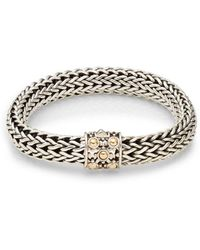 John Hardy | Dot Sterling Silver & 18k Yellow Gold Braid Bracelet | Lyst