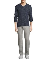 John Varvatos - Space Dyed Henley - Lyst