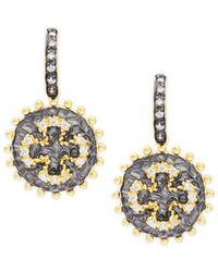 Freida Rothman - Maltese Coin Dangle Earrings - Lyst