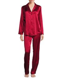 Arlotta By Chris Arlotta Collection Two-piece Silk Top & Trousers Pyjama Set