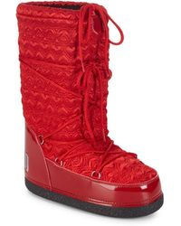 Love Moschino - Quilted Mid-calf Moon Boots - Lyst