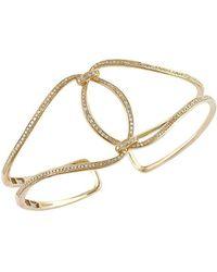 Effy - Diamond And 14k Yellow Gold Bangle Bracelet, 0.76 Tcw - Lyst