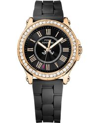 Juicy Couture - Pedigree Goldtone And Silicone Watch - Lyst