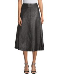 Robert Rodriguez - Leather A-line Skirt - Lyst
