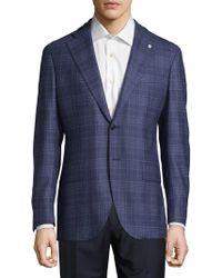 Lubiam - Plaid Wool Sportcoat - Lyst