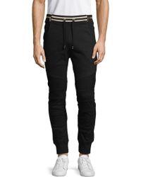 Balmain - Striped-waist Trousers - Lyst