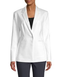 Saks Fifth Avenue Black - Long & Lean Jacket - Lyst