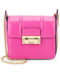 Lanvin - Sac Jiji Mini Leather Shoulder Bag - Lyst