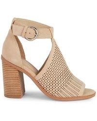80b704f3dbc1 Marc Fisher - Vixen Cutout Suede Block Heel Sandals - Lyst