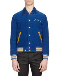 Saint Laurent - Je T'aime Corduroy Teddy Jacket - Lyst