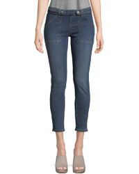 Free People - Strap Low-rise Skinny Jeans - Lyst