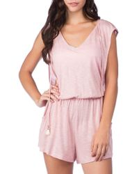 Lucky Brand - Solid Attitude Hooded Romper - Lyst