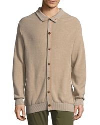 Luciano Barbera - Button-down Sweater - Lyst