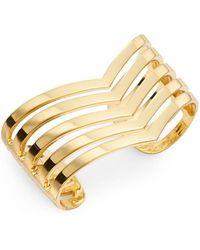 Paige Novick Isabelle Point Cuff Bracelet/goldtone