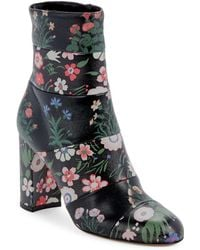 Valentino - Floral-print Leather Boots - Lyst