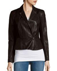 1.STATE - Long Sleeve Moto Jacket - Lyst