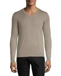 Giorgio Armani - V-neck Cashmere Sweater - Lyst