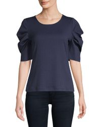 Vince Camuto - Textured Draped-sleeve Top - Lyst