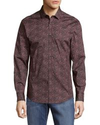 Vince Camuto | Two-toned Button-down Shirt | Lyst