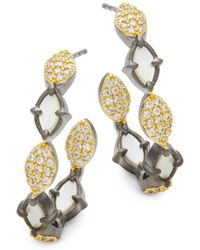 Freida Rothman - Marquise Mother-of-pearl J-hoop Earrings - Lyst