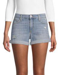 Joe's Jeans - Geneva Distressed Denim Shorts - Lyst
