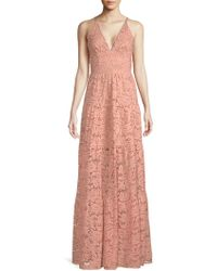 Dress the Population - Melina Lace Maxi Dress - Lyst