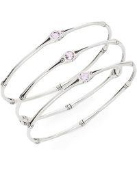John Hardy - Bamboo Rose De France & Sterling Silver Bangle Bracelet Set - Lyst