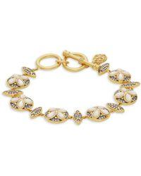 Freida Rothman - Fleur Bloom Petal Sterling Silver & Mother-of-pearl Bracelet - Lyst
