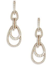 Adriana Orsini - Pavé Cubic Zirconia Drop Earrings - Lyst