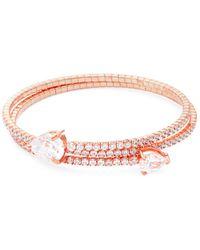 Saks Fifth Avenue - Crystal And Sterling Silver Bangle Bracelet - Lyst