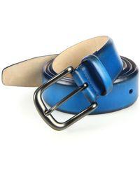 Saks Fifth Avenue - Burnished Leather Belt - Lyst