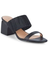 Halston - Kimberly Leather Sandals - Lyst