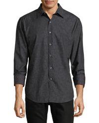 Robert Graham - Dotted Cotton Button-down Shirt - Lyst