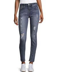 True Religion - Destroyed Super Skinny Jeans - Lyst