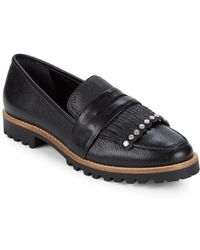 Bernardo - Kilted Leather Loafers - Lyst