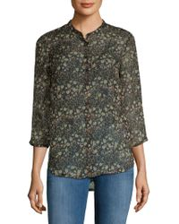 French Connection - Hallie Printed Blouse - Lyst